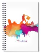 Madrid Colored Skyline Spiral Notebook