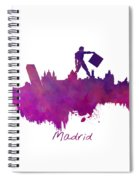 Madrid Skyline City Spiral Notebook