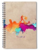 Madrid Skyline  Spiral Notebook