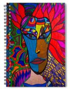 Magdalena On Fire - Mask - Abstract Face Spiral Notebook