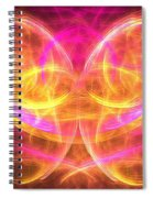 Magenta Moth Spiral Notebook