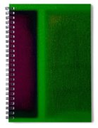 Magenta On Green Spiral Notebook