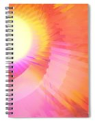 Magenta Orange Sunshine Spiral Notebook