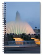 Magic Fountain In Barcelona Spiral Notebook