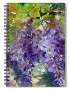 Magic In Purples And Greens Spiral Notebook