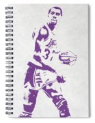 Magic Johnson Los Angeles Lakers Pixel Art Spiral Notebook