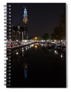 Magical Amsterdam Night - Blue Crown Skyline Spiral Notebook