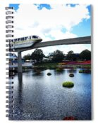 Magical Monorail Ride Spiral Notebook