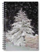 Magical Nighttime Snow Spiral Notebook