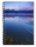 Magical Sunrise Along Sawtooth Mountain Range Stanley Idaho Spiral Notebook