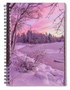 Magical Sunset After Snow Storm 1 Spiral Notebook