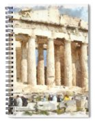Magnificent Acropolis In Athens Spiral Notebook