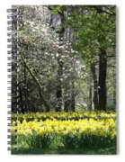 Magnolia And Daffodils Spiral Notebook