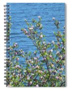 Magnolia Flowering Tree Blue Water Spiral Notebook