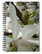 Magnolia Tree Flowers Art Prints White Magnolia Flower Spiral Notebook