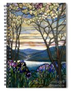 Magnolias And Irises Spiral Notebook
