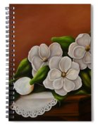 Magnolias On A Table Spiral Notebook