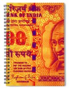 Mahatma Gandhi 500 Rupees Banknote Spiral Notebook
