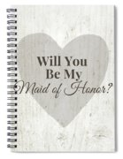 Maid Of Honor Rustic- Art By Linda Woods Spiral Notebook