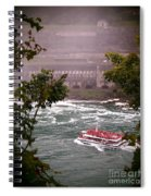 Maid Of The Mist Canadian Boat Spiral Notebook