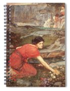 Maidens Picking Flowers By The Stream Spiral Notebook