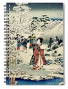 Maids In A Snow Covered Garden Spiral Notebook