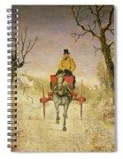 Mail Cart Christmas Spiral Notebook