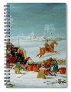 Mail Coach In The Snow Spiral Notebook