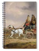 Mail Coaches On The Road - The Louth-london Royal Mail Progressing At Speed Spiral Notebook