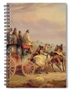 Mail Coaches On The Road - The 'quicksilver'  Spiral Notebook