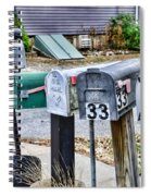 Mailboxes Spiral Notebook