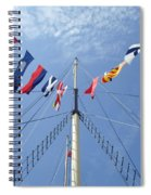 Main Mast Of Ss Great Britain At Bristol England Spiral Notebook