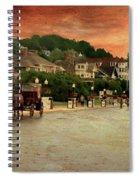 Main Street Mackinac Island Michigan Panorama Textured Spiral Notebook