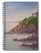 Maine Coast Abode - Art By Bill Tomsa Spiral Notebook