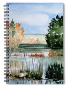 Maine Fall Reflections Spiral Notebook