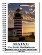Maine Good Morning West Quoddy Head Lighthouse Spiral Notebook