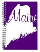 Maine In White Spiral Notebook