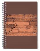 Maine Map Brand Spiral Notebook