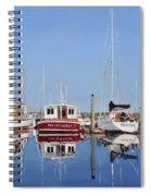 Maine Marina Evening Spiral Notebook