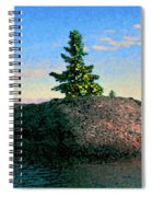 Maine Stone Island Sunrise Spiral Notebook