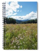 Maisie In A Field Of Flowers Spiral Notebook