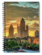 Majestic Gold Midtown Atlantic-station Atlanta Sunrise Art Spiral Notebook