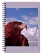 Majestic Golden Eagle Spiral Notebook