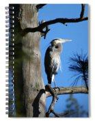 Majestic Great Blue Heron 1 Spiral Notebook