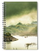 Majestic Morning Lake Spiral Notebook