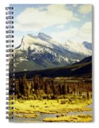 Majestic Mount Rundle Spiral Notebook