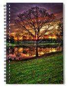 Majestic Sunrise Reflections Art Spiral Notebook