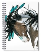Majestic Turquoise Horse Spiral Notebook