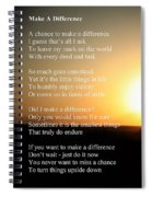 Make A Difference Spiral Notebook