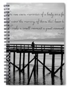 Make A Small Moment A Great Moment - Black And White Art Spiral Notebook